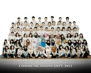 Communications Dept. 2012